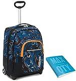 TROLLEY SEVEN + Quaderno anelli Max Qty - Blu - 35 LT Scuola e viaggio - Crossover System