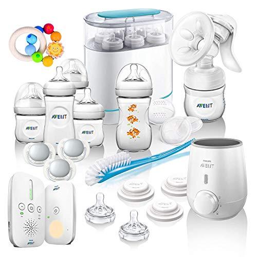 Philips AVENT Naturnah Kit de démarrage MEGA-SET VI / tout-en-un / avec Babyphone, stérilisateur, pompe à lait, chauffe-biberon