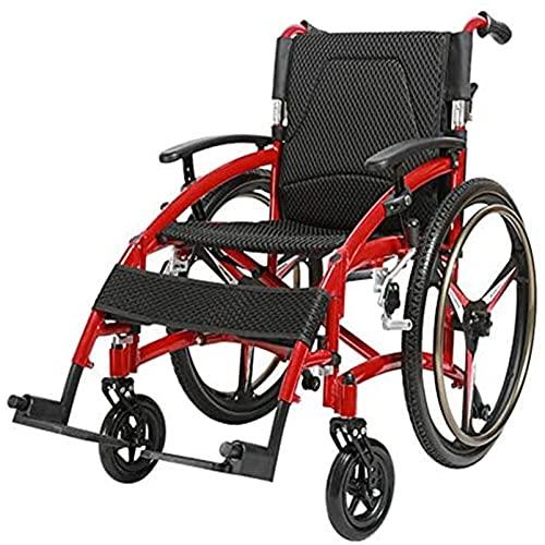 ZZBB Ayudas De Movilidad Plegables para Viajes, Silla De Ruedas Autopropulsada Liviana, Silla De Ruedas Manual Portátil para Personas Mayores Discapacitadas,