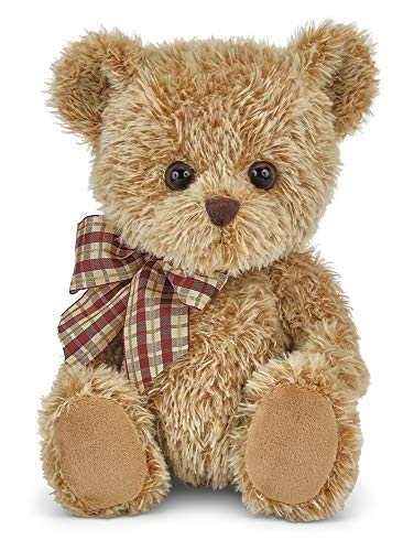 Bearington Baby Shaggy Brown Plush Stuffed Animal Teddy Bear, 11 inches