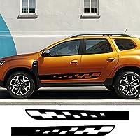 DDNAF 2本のカースタイリングサイドストライプステッカーDIYオートデカール、ルノーダチアダスターチューニングカーアクセサリー用
