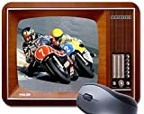 PC Barry Sheene vs Kenny Roberts Tapis de souris TV vintage Tapis de souris moto course