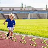 UISEBRT Juego de 6 Vallas ajustables 20/30 cm – Cuerdas de entrenamiento de fútbol para niños, agilidad y entrenamiento de coordinación, verde