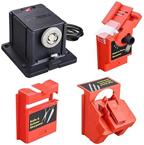 Aiguiseur de couteaux électrique multifonction / burin / lame de rabot / ciseaux / forets HSS - Pour outils de meulage multifonctions