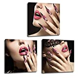 Size:12x12inchx3pcs (30x30cmx3pcs),the Size is Customizable Professional artwork is used for a sharp hi-resolution image. Canvas printed with high resolution by the latest and most advanced color technology has the characteristics of durability, wate...