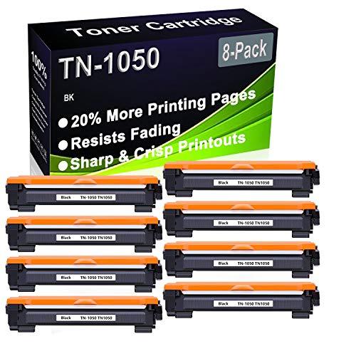 Paquete de 8 cartuchos de impresora compatibles de alto rendimiento TN-1050 TN1050 para impresoras Brother HL-1112 HL-1110 HL-1210W HL-1212W DCP-1610W DCP-1512 DCP-1612W DCP-1510