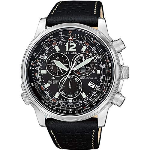 Reloj de Cuarzo Citizen Radio Controlled, Eco Drive, 43,8mm, Negro, CB5860-19E