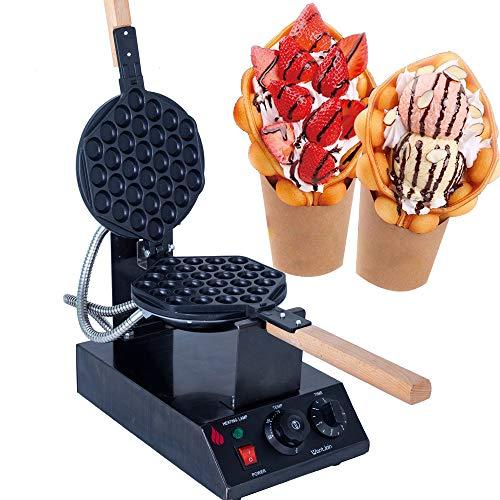WantJoin Bubble Waffeleisen Waffle Maker Elektrische Waffelmaschine Waffelgerät Titanium Ei Waffeleisen 180° Drehbare Elektrische 30pcs Egg Waffle Maker Cake Machine 1400W
