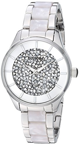 Invicta Women's Angel Quartz Watch with Stainless-Steel Strap, Silver, 15.8 (Model: 25246)