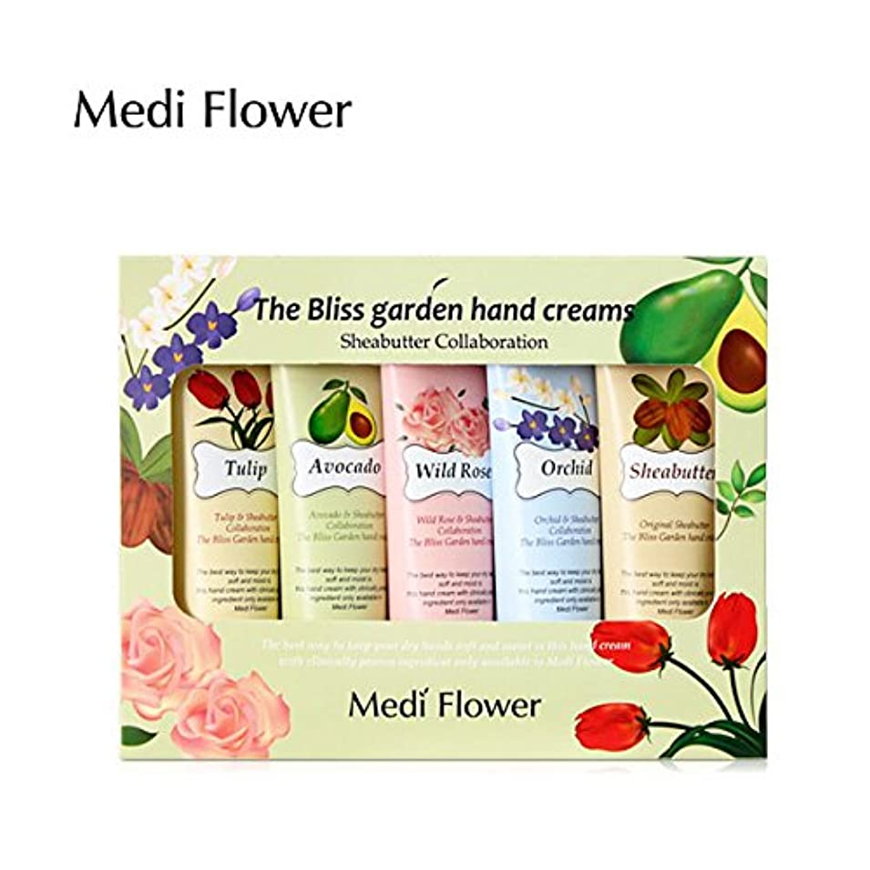 役員銀河実験をする[MediFlower] ザ?ブリスガーデン?ハンドクリーム?シアバターコラボレーション 50g x 5個セット / The Bliss Garden Hand Creams (Sheabutter Collaboration)