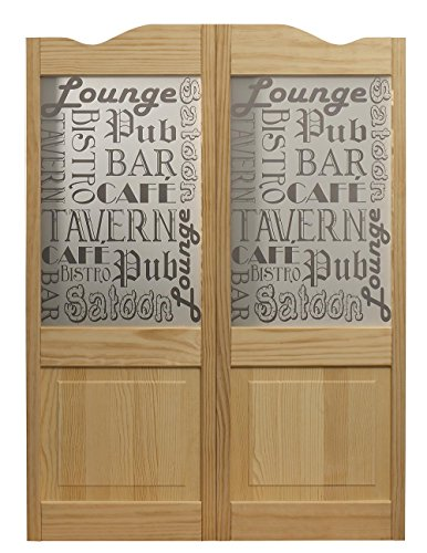 LTL Home Products 183642 Pinecroft Tavern Café Swing Door, 36 x 42, 36 Inches x 42 Inches, Unfinished Pine