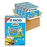 Teddy Grahams Honey Graham Snacks, 4 Boxes of 12 Snack Packs (48 Total Snack Packs)