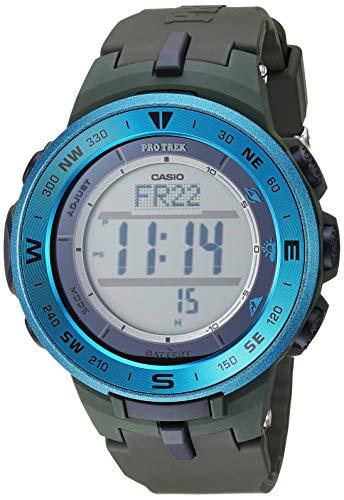 Casio Men's ProTrek Stainless Steel Quartz Watch with Resin Strap, Green, 20.9 (Model: PRG-330-2ACR)