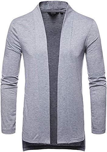 Latoshachase NRUTUP Mens Cardigan Jacket, Men's Formal Slim Fit Long Sleeve Suit Jacket Trench Coat Top Blouse