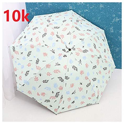 Paraplu Vouwparaplu's Duurzame Draagbare Versterkte Plant Stempelen Regen-Proof Winddicht Frame 3 Vouwen Zonnescherm Paraplu Regen Women-as_Picture