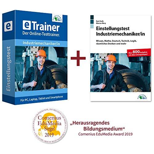Einstellungstest Industriemechaniker Kombipaket: Online-Testtrainer + Buch | Über 2.400 Aufgaben mit allen Lösungswegen | Allgemeinwissen, Mathe, Deutsch, Technik, Logik, räumliches Denken und mehr