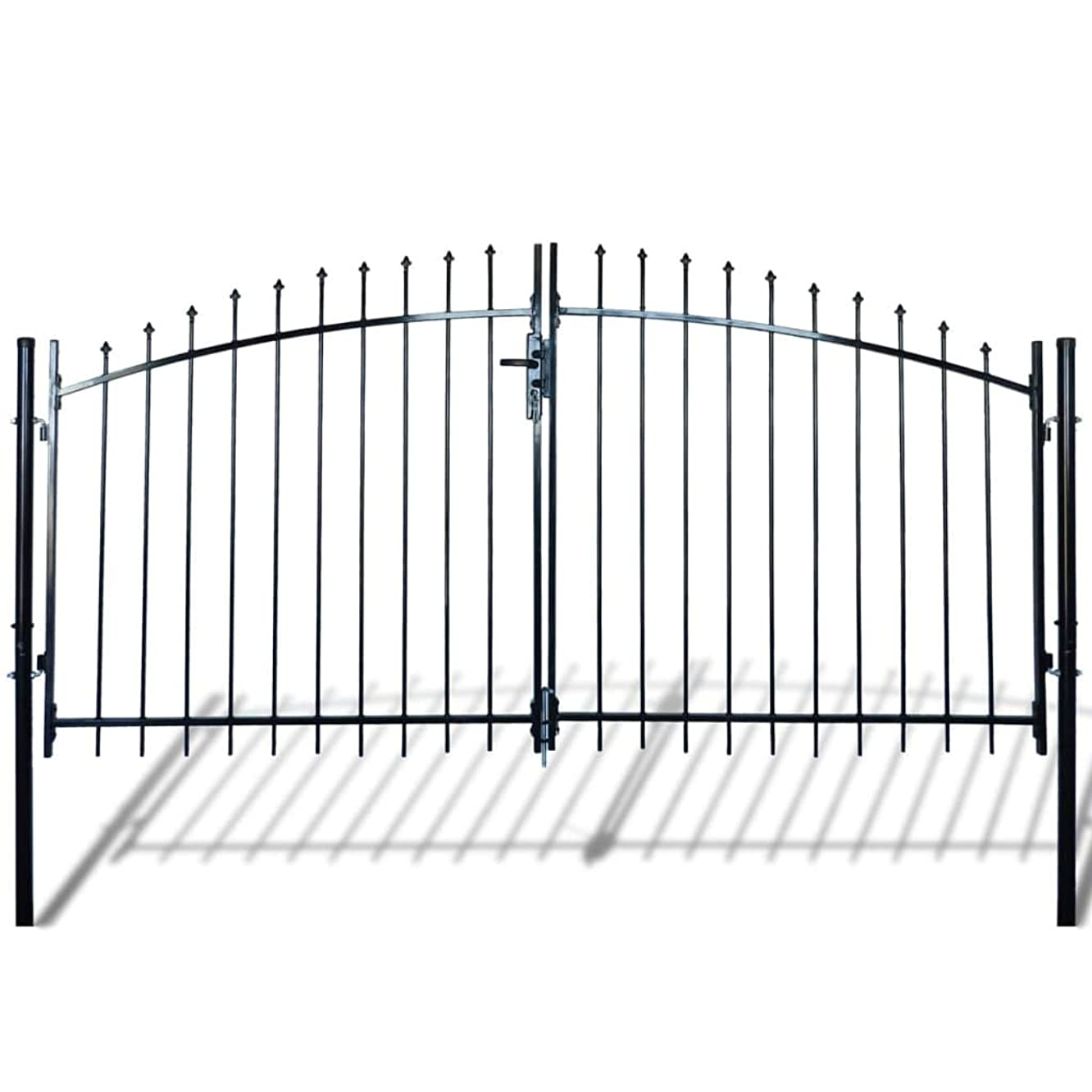 Hardware Fencing & Barriers Gates Double Door Fence Gate with Spear Top 10' x 6'