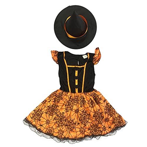 Petrichori Halloween Disfraces para Niños Ropa para Niñas Little Witch Princess Dress Trajes para Niñas Disfraces De Mascarada - Marrón M