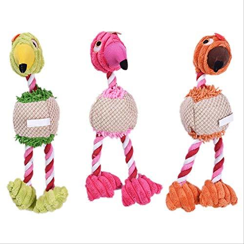 XYBB Hundespielzeug Hund Plüsch Spielzeug Quietschende Kauen Spielzeug Für Kleine Hunde Küken Form Eingebaut E-Sound Zähne Reinigung Hund Kauen Spielzeug Biss Resistent Größe Zufällige Farbe