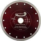 PRODIAMANT Disco de corte de diamante de alta calidad para azulejos, gres porcelánico, 200 mm x 30 con anillo de 25,4 mm, para máquinas de mesa