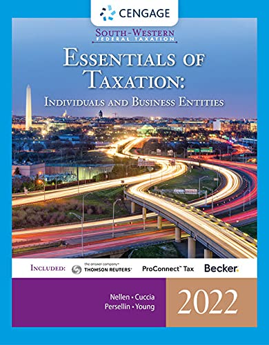 South-Western Federal Taxation 2022: Essentials of Taxation: Individuals and Business Entities (Intuit ProConnect Tax Online & RIA Checkpoint, 1 term Printed Access Card)