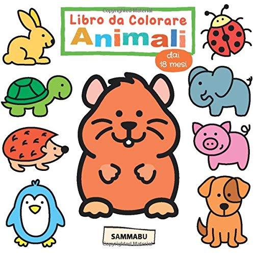 Libro da Colorare Animali dai 18 Mesi