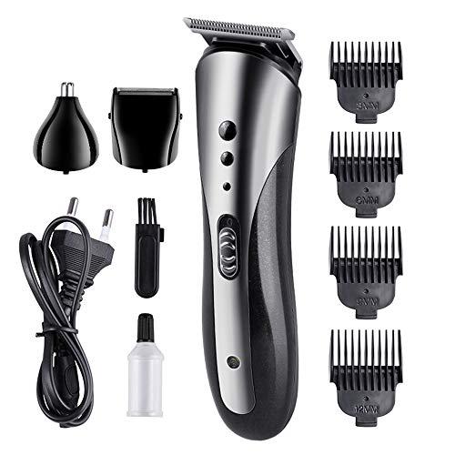 Recortadora de barba,Anself Maquina Afeitar Cortapelos Dispositivo para el Cabello Nariz multifunción corte de pelo tijeras recortadora de barba hombre
