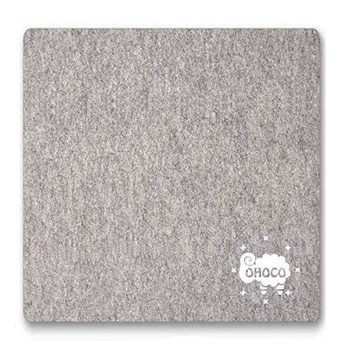 """OHOCO Wool Pressing Mat for Quilting - 9"""" x 9"""" Portable Travel Size Felt Ironing Pad 1/2"""" Thick, 100% New Zealand Wool for Ironing, Sewing, Cutting on Ironing Board, Tabletop, Dryer, Countertop"""