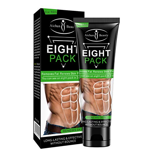 AICHUN BEAUTY Eight Pack for Men Strong Waist Manly Torso Smooth Lines Press Fitness Belly Burning Muscle Fat Remove Renews Skin Weight Loss Slimming Cream 80g