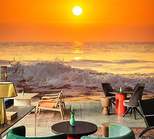 Yosot Sky Sea Waves Horizon Art fotobehang woonkamer TV sofa muur keuken slaapkamer restaurant bar 3D muurafbeelding 140 cm x 100 cm.