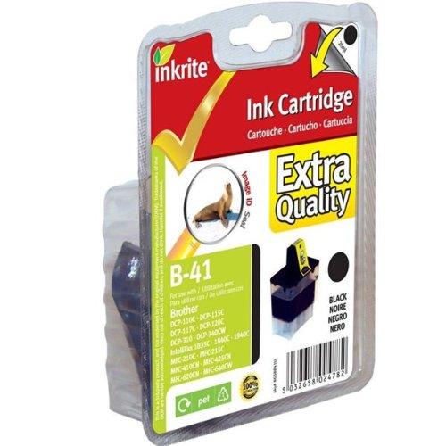Inkrite Printer Inkt voor Brother MFC 210C 420CN 3240C - LC41 LC47 LC900 Zwart (Seal)