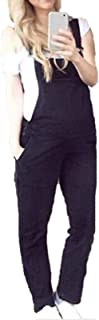 KEEPWO Maternity Dungarees - Fashion Denim Blue Pregnancy Overalls Maternity Bib
