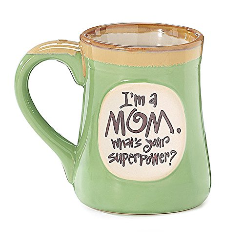 1 X I'm a Mom Superpower Lime Green 18 Oz Mug