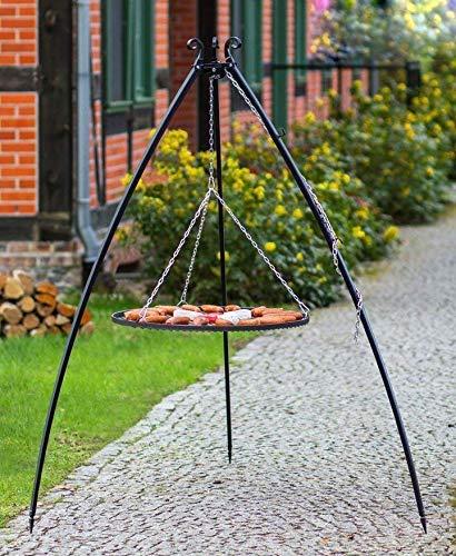 Blackorange XXL Schwenkgrill 200 cm und XL Grillrost Ø 80 cm aus Stahl