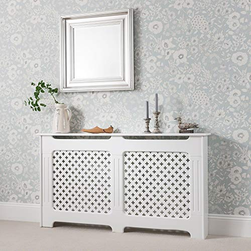 Laura James Radiator Cover Cabinet White Painted Large Traditional (large)