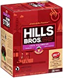 Hills Bros Single Serve Coffee Pods, Colombian Medium Roast - 100% Premium Arabica Coffee - Compatible with Keurig K-Cup Brewers (20 Count)