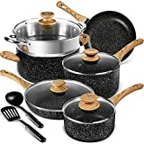 MICHELANGELO 12 Pcs Non-Stick Pots and Pans Set, Stone Cookware Set 12 Pcs, Kitchen Cookware Sets...