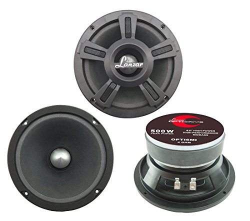 "Lanzar Upgraded Opti Pro 6.5"" High Power MidBass -..."