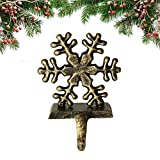 <span class='highlight'><span class='highlight'>FlowersSea</span></span> Vintage Stocking Holders Cast Iron Christmas Santa Snowman Snowflake Elk Hanging Hooks Table Hanger French Style Accessories For The Home Decorative (Snowflake(1Pcs))
