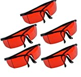 Aries Outlets 5PCS Protection Goggle Glasses for Dental Curing Whitening Light Lamp for Dentist Lab Use