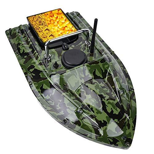 Barco de Cebo de Pesca, Control Remoto RC 500m Cebo de Pesca inalámbrico Barco de Cebo Buscador de Peces con luz LED de Noche Barco de Cebo de Pesca portátil(UE)