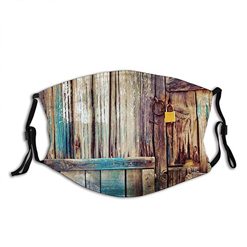 Windproof Printed,Rustic,Aged Shed Door Backdrop with Color Details Country Living Exterior Pastoral Mansion Image,Brown(4674)