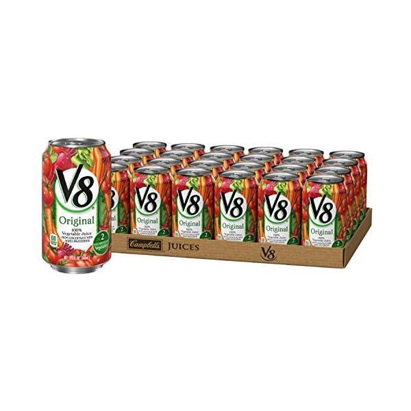 V8 Juice, Original 100% Vegetable Juice, Plant-Based Drink, 11.5 Ounce Can (Pack...