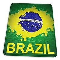 マウスパッド ブラジル 旗 ロゴ ゲーミング オフィス最適 高級感 おしゃれ 滑り防止と防水設計で 操作感が快適 耐久性が良い ゴム底 複数サイズ