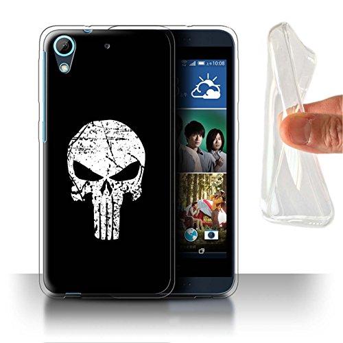 Hülle Für HTC Desire 626G+ Antiheld Comic-Kunst Punisher Inspiriert Design Transparent Dünn Weich Silikon Gel/TPU Schutz Handyhülle Case