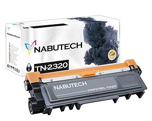 Nabutech Toner Reichweite: 6.300 Seiten | Geprüft nach ISO-Norm 19752 | kompatibel zu Brother TN-2320 TN2320 Schwarz |