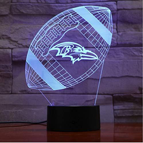 Baltimore Ravens Nachtlicht Led Dekor 3D Illusion Touch Sensor Kinder Kinder Jungen Geschenk Tisch Schlafzimmer Lampe American Football Team