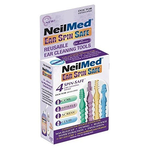 NeilMed Ear Spin Safe Reusable Ear Cleaning Tools (Pack of 2)