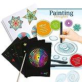 Harxin Deluxe Spiral Design Set con Papel Rayado Arcoíris, Juegode guía y lápiz Juego de Arte en Dibujo para Adultos y Niños (Designer de Juguetes)