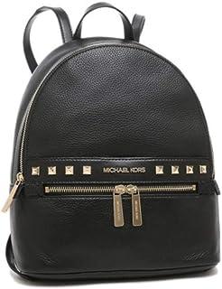 Michael Kors Kenly Medium Leather Backpack -Black